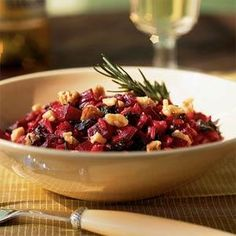 Beet Risotto with Greens, Goat Cheese, and Walnuts Recipe - This will ...