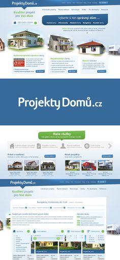 Webové stránky s katalogem Projekty domů