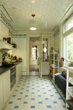 most beautiful kitchen. with a tiled ceiling!