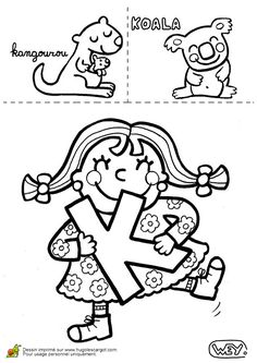 Lettre K Kangourou Koala, page 11 sur 26 sur HugoLescargot.com