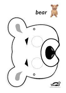printables for kids Animal Masks For Kids, Mask For Kids, Printable Animal Masks, Bunny Templates, Bear Mask, Mask Drawing, Bear Theme, Mask Template, Drawing For Kids