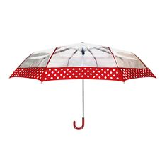 Dotted Mini Clear Red Umbrella