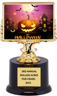 Cutest costume Halloween Trophy Costume Party witch on a broom  trophies