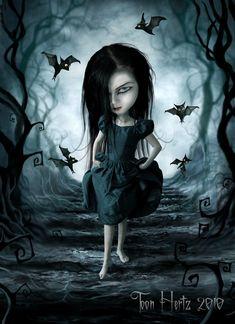 Mistress Of The Bats by ~THZ on deviantART goth gothic fantasy art