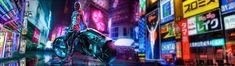 Cyberpunk Tokyo. Dual monitor [3840x1080]