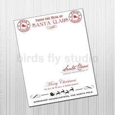 Letter from santa that needs no by northpoleredenvelope on etsy printable santa claus letterhead for letters from santa north pole stamped instant download spiritdancerdesigns Choice Image