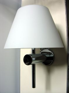 Bathroom Wall Light, Frosted white glass shade, chrome finish.