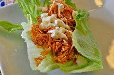 Buffalo Chicken Lettuce Wraps - our salad is probably better