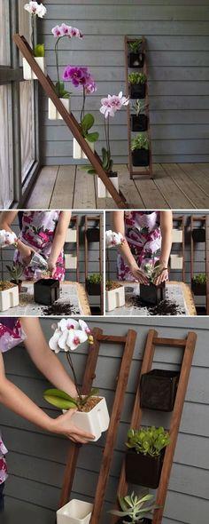 ladder planter garden gardening idea gardening ideas gardening decor gardening decorations gardenng tips gardening crafts gardeining on a budget small garden ideas