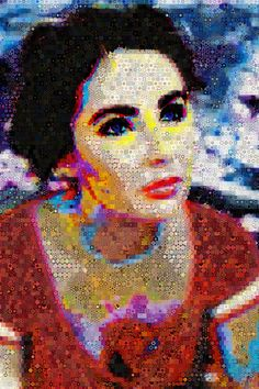 """""""My honour was not yielded, but conquered merely.""""Elizabeth Taylor made out of diamonds.""""Dimension 90 x 60 Inches"""
