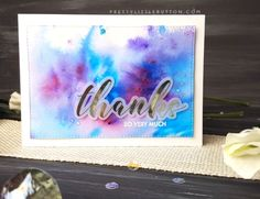 Brusho are an amazing watercolour powders which can help you create a faux tie dye look to your cards by creating stunning vibrant backgrounds.