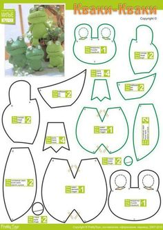 , Five Little Speckled Frogs Lyrics Pattern, Stuffed Animal Pattern, How to Make a Toy Animal Plushie Tutorial Plushi. Plushie Patterns, Felt Patterns, Sewing Patterns, Sewing Toys, Sewing Crafts, Sewing Projects, Diy Projects, Diy Crafts, Sewing Stuffed Animals