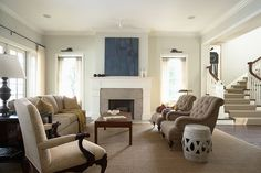 Elegant and casual Living Room with fireplace - traditional - living room - minneapolis - Erotas Building Corporation