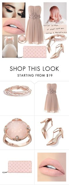 """""""Rose gold"""" by boomershinee ❤ liked on Polyvore featuring GUESS, Barbara Schwarzer, Lavish by TJM, Boden, Valentino and Jouer"""