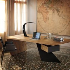Forget the table look at the wall! The color tone is nice. Refresh Spaces with Nasdaq by Cattelan Italia