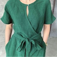 Wrap Blouse, Wrap Dress, Korean Fashion Trends, Casual Tops For Women, Kimono Dress, Types Of Fashion Styles, Short Sleeve Dresses, Dresses With Sleeves, Couture