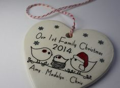 CUSTOM Our 1st Family Christmas Ornament by aphroditescanvas