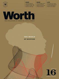 Worth / Creative Director: Dean Sebring  Illustrator: Brian Stauffer. #editorial #print