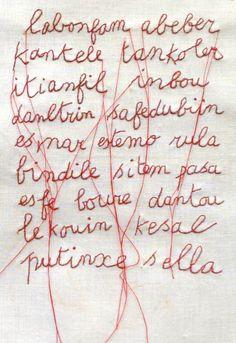 Borduurwerk /  Karin van der Linden. ( Jean Dubuffet.)
