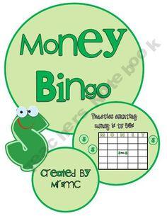 Money Bingo (Practice Counting 1-50 Cents)
