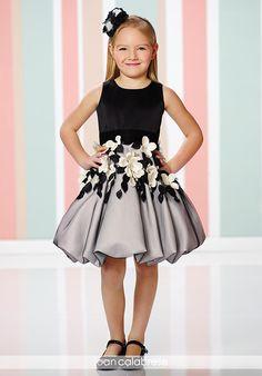 Joan Calabrese by Mon Cheri 216321 Black Flower Girl Dress