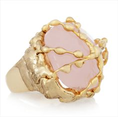 pink and gold Regale Ring - Rosantica