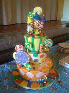 CandyLand Birthday Cake.