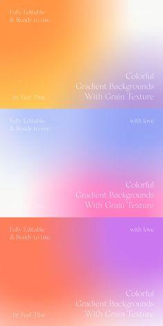 Graphic Design Typography, Graphic Design Illustration, Branding Design, Web Design, Gradient Background, Layout Inspiration, Typography Logo, Logo Color, Design Reference
