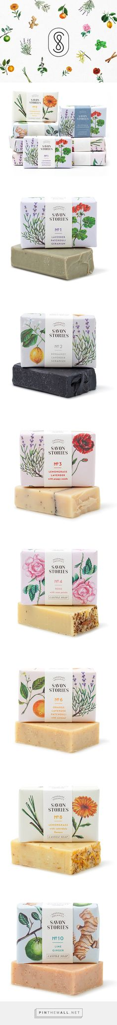 Savon Stories packaging on Behance by Menta curated by Packaging Diva PD. Savon Stories is an English company specialised in the handcraft of 100% organic soaps produced in small batches.