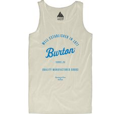Burton Quality Goods tank Vanilla