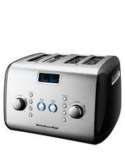 Artisan 4 Slice Toaster Onyx Black Kmt423 Giftryapp Kitchenaid Toaster Countertop Appliances Toaster