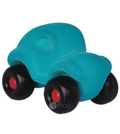 Rubbabu Microvehicles Blue Beetle 3 inches by Rubbabu. $5.95. These hand made natural rubber foam toys are made without cutting down trees. Strong educational value for infants and toddlers (ages 0-6) develop sensory, motor, congnitive skills. Using safe materials of the best quality, certified by EN 71 Parts 1, 2 and 3, ASTM 963F 16 CFR.... Rubbabu's hand made natural foam toys in simple shapes and bright colors are loved by kids and parents alike.  Soft and safe for even t...