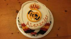 Real Madrid cake Real Madrid Cake, Football, Cakes, Desserts, Food, Hs Football, Tailgate Desserts, Futbol, Meal