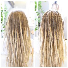 This is my client Johanna, for over 12years if I remember correctly she has been coming to me for some dread lovin now and then. Here is a pic of Johanna before and after her dreadlock maintance.