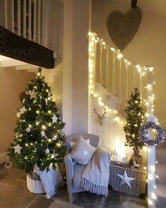 christmas tree is up...lets get festive. stars...nordic feel....festive #christmas #christmastreeinspo #festive