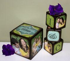 Wedding Blocks by newcreationblocks on Etsy, $54.00