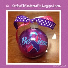 Photo on Circle of Friends Crafts: Awareness Ornaments