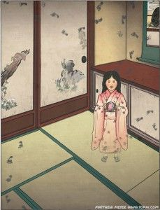 Zashikiwarashi, A Yokai ( in this case the word is translated as ghost but is really a word meaning anything supernatural) of a child