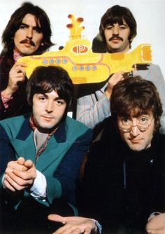 I just like to think.... George and John are just living in a Yellow Submarine now :)