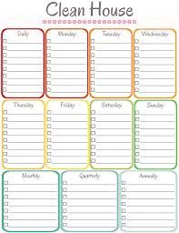 household cleaning schedule template google search cool ideas