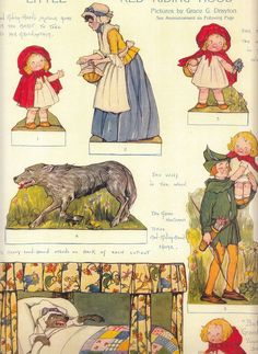 Fairy Tale Cut Outs by Grace Drayton Pictorial Review 1913 1916 Color Prints | eBay