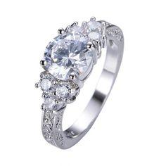 Splendent White Sapphire Stylish Jewelry Women/Men Wedding Ring Anel Aneis White Gold Filled Engagement Rings Sz6-11 RW1133 //Price: $ 10.00 & FREE Shipping //     #jewelry #jewels #jewel #fashion #gems #gem #gemstone #bling #stones   #stone #trendy #accessories #love #crystals #beautiful #ootd #style #accessory   #stylish #cute #fashionjewelry  #bracelets #bracelet #armcandy #armswag #wristgame #pretty #love #beautiful   #braceletstacks #earrings #earring