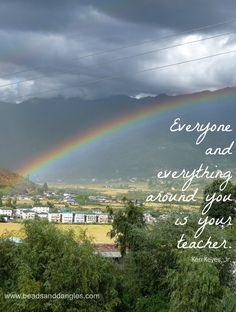 Rainbow over Paro, Bhutan - exquisitely beautiful!  www.beadsanddangles.com