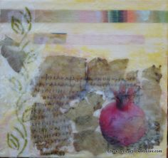 Ancient Text and Pomegranate