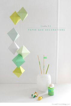 Movil de papel para decorar