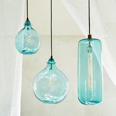 Strata Art Glass Pendant Light Turquoise Teal Amp Aqua