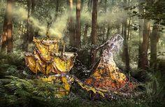 Ao perder sua mãe, Kirsty Mitchell criou um ensaio surreal baseado em sonhos.