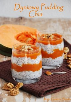 Gallery of Taste: Pumpkin pudding chia Pumpkin Pudding, Chia Pudding, Brunch Recipes, Breakfast Recipes, Polish Recipes, Healthy Cooking, Food To Make, Smoothies, Clean Eating