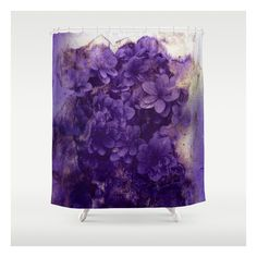 Purple Flowers Shower Curtain  68    liked on Polyvore featuring home  bed   Purple shower curtain   Bathroom   Pinterest   Purple  Apartments  . Purple Shower Curtain Liner. Home Design Ideas