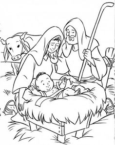 Nativity Coloring Pages, Bible Coloring Pages, Christmas Coloring Pages, Laser Cutter Ideas, Sketchbook Drawings, School Worksheets, Black And White Prints, Religious Education, Kids Church